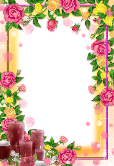Spring flower frames for Photoshop