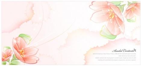 Spring flower postcard