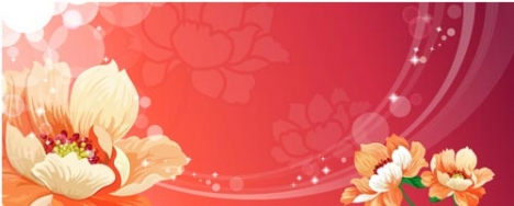Spring flower banner