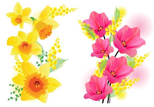 Spring flowers vector ...