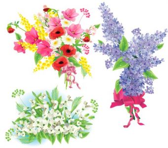 Spring flowers vector design