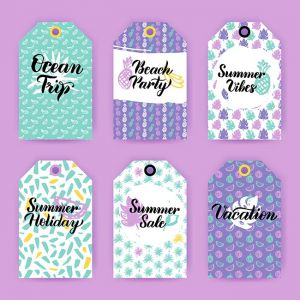 Summer Trendy Gift Labels