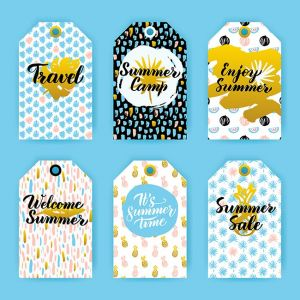 Summer Trendy Hipster Gift Labels