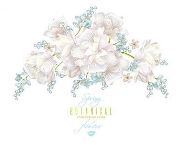 Spring flower composition,Spring flower composition