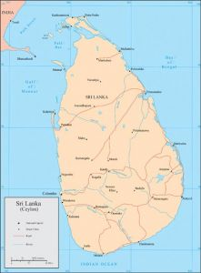 Sri Lanka vector map