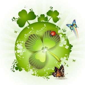 St Patricks day card design
