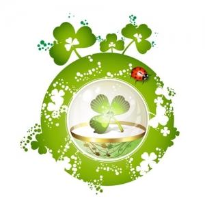 St Patricks day card template