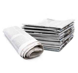 Stack of newspapers high resolution image