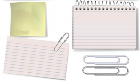 Paper note layout