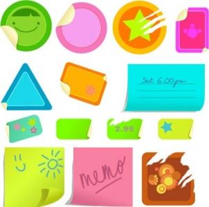 Sticker note layout