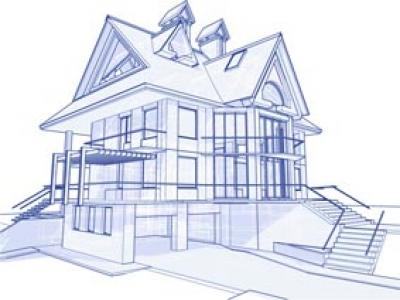 3D architecture vector
