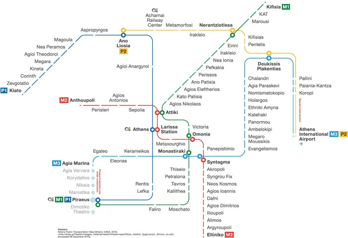 Athens Subway Map.Subway Maps Of European Cities Vectors