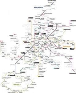 Madrid city subway map