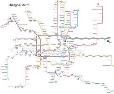 Shanghai city subway map