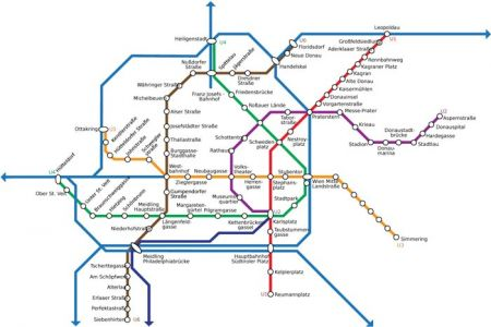 Viena city subway map