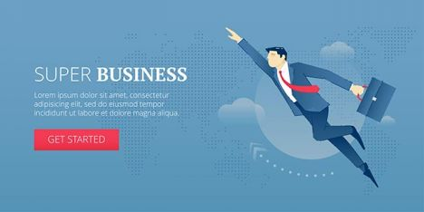 Super business. Web banner