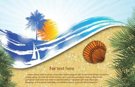 Summer and sea design