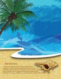 Summer and sea vector