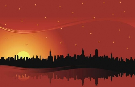 Sunset vector design
