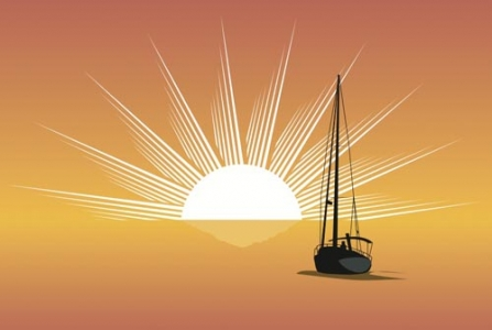 Sunset vector design