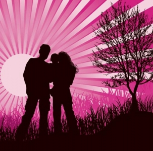 Lovers vector design