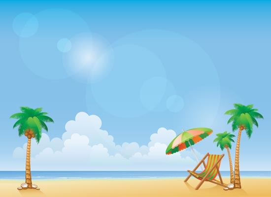 beach party cartoon background