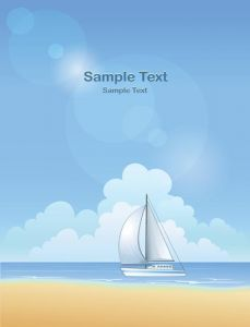 Summer beach background template