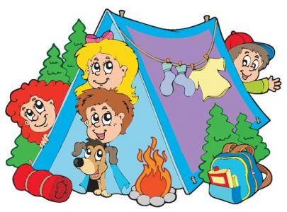 Summer camping vector illustrations