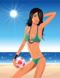 Summer girl design