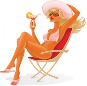 Summer girl clipart