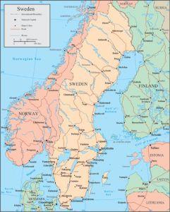 Sweden vector map