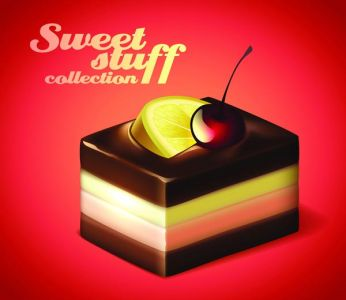 Sweets and snacks vector