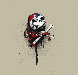 T-shirt with skull vector