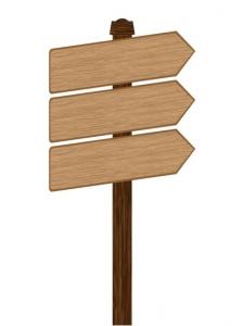 Signboards vector