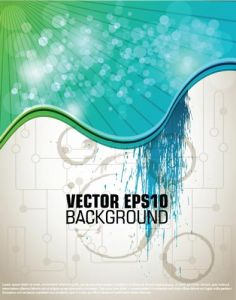 Technology vector brochure cover