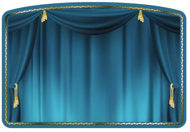 Theater curtain vectors for Curtain creator software