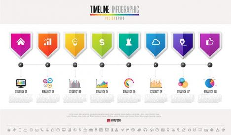 Timeline Infographics Design Template