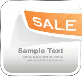 Sales stickers vector design