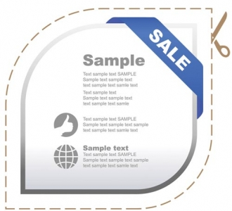 Sales stickers vector design