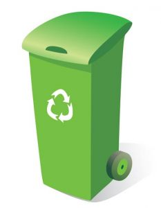 green trash can vector
