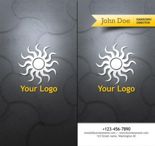 Travel business cards with gray background