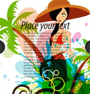 Travel cover vector template