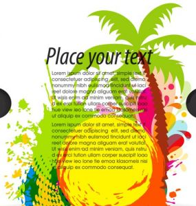 Travel flyer vector design