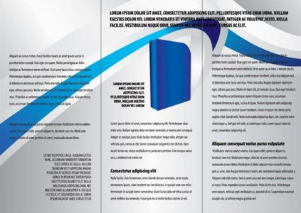 Tri fold corporate brochure design