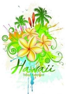 Tropical paradise poster vectors