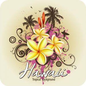 Tropical paradise poster vectors