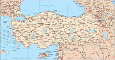 Turkey vector map