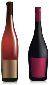 Types of bottles eps vectors