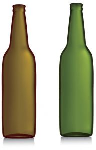 Types of bottles eps vectors