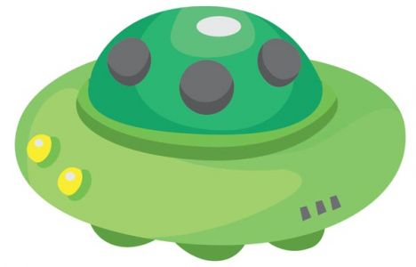 Ufo spaceships vector cartoons